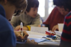 Ateliers d'écriture parents / enfants, par Delphine Bole