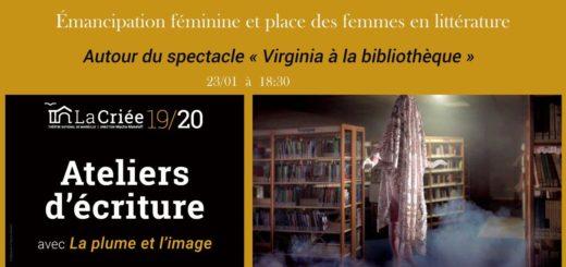 Virginia à la bibliothèque. Atelier d'écriture à Marseille